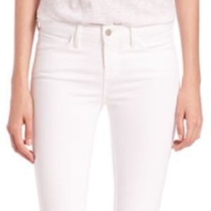 L'Agence Chantal Low Rise Skinny in Blanc